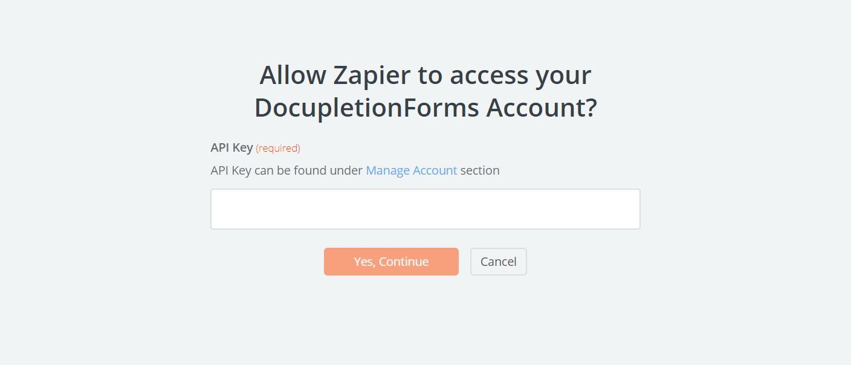 DocupletionForms API Key
