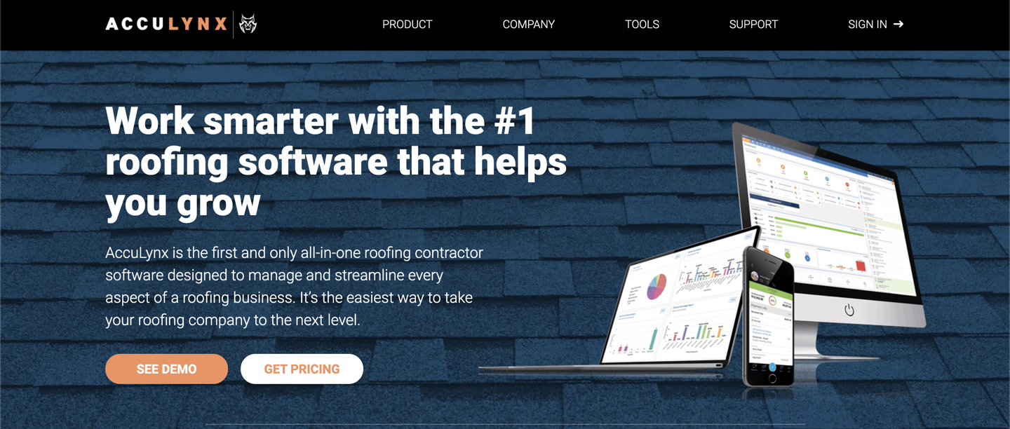 AccuLynx home page