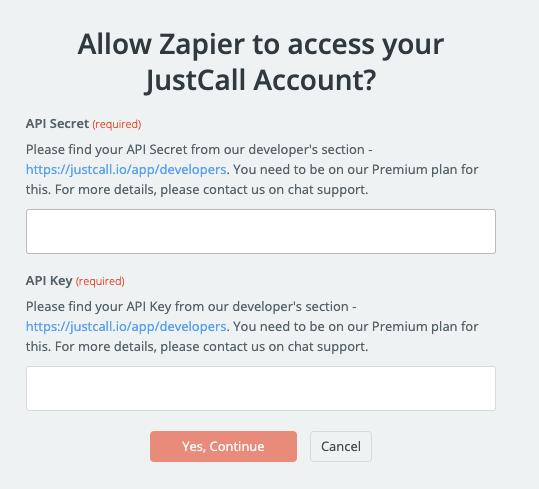JustCall API Key