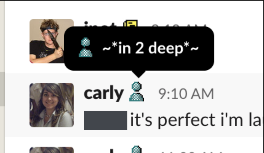 Carly's away message: in 2 deep