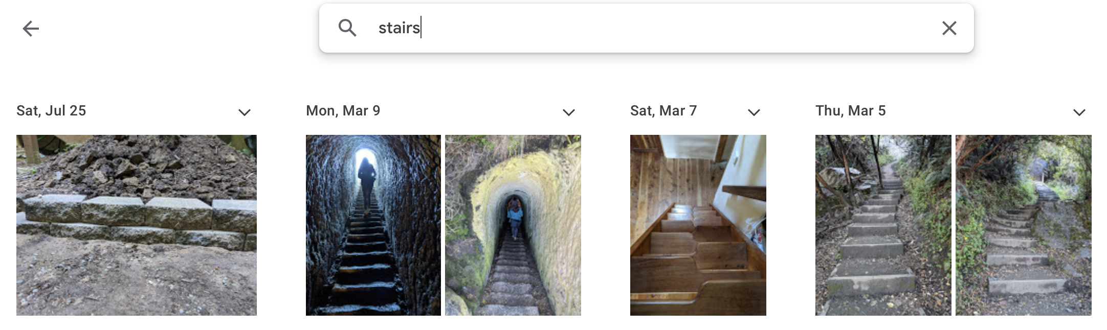 Various stairs from New Zealand in Google Photos