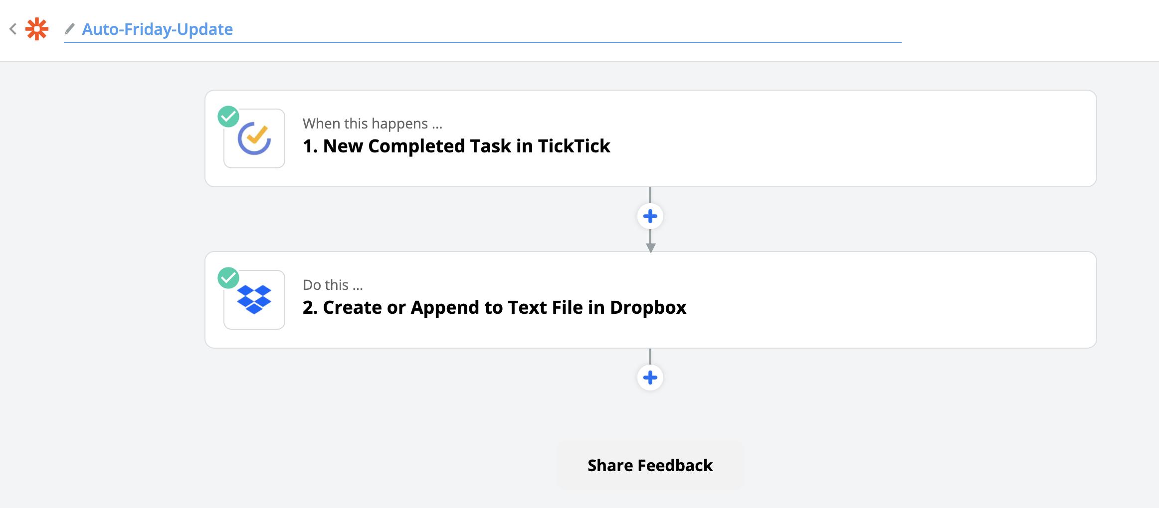 TickTick to Dropbox