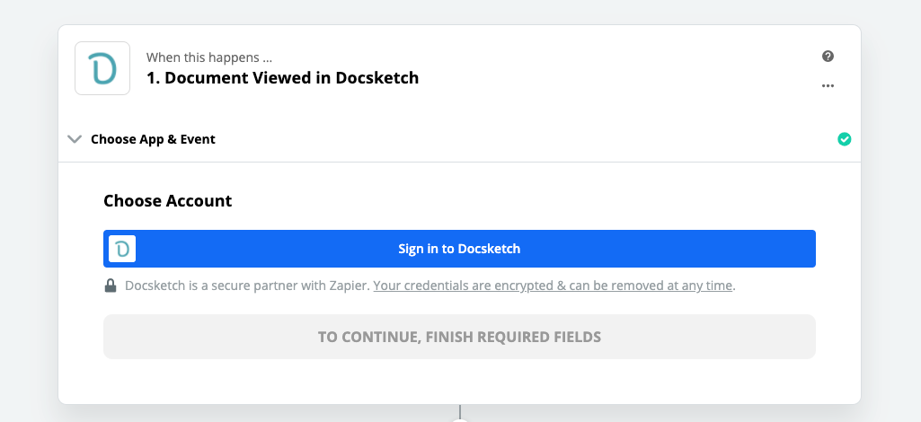 Click to connect Docsketch