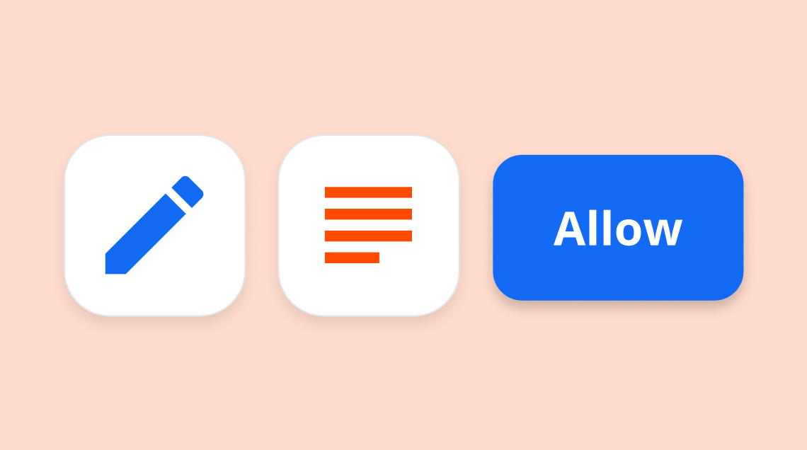 A stylized rendering of a connetion in Zapier.