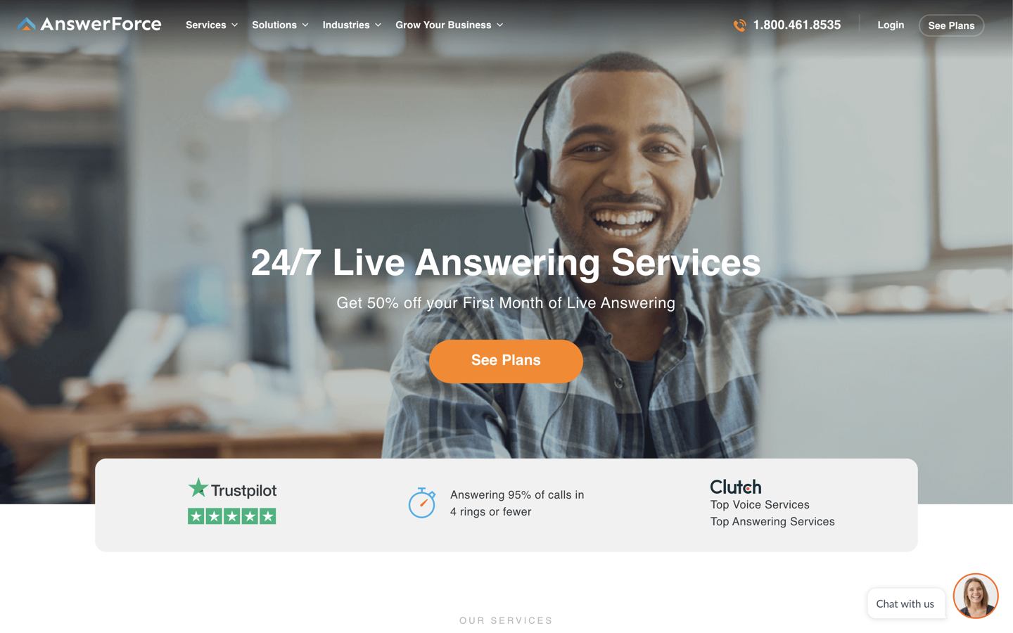 AnswerForce home page