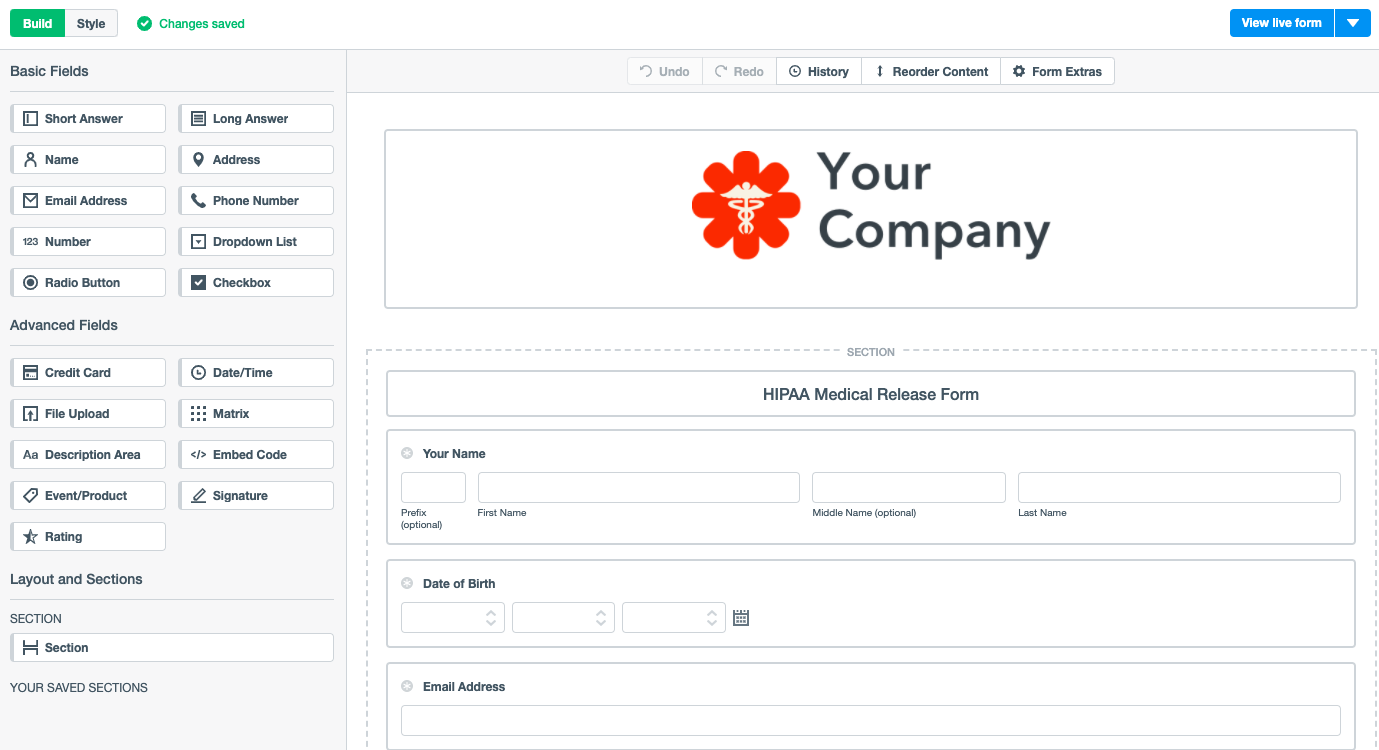 Formstack screenshot
