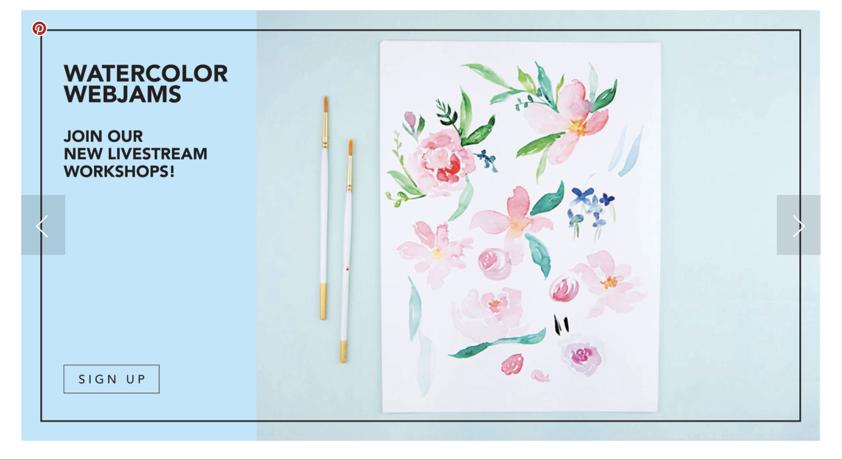 Watercolor WebJams promo