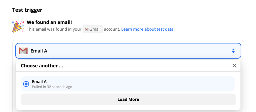 Gmail email options