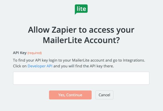 MailerLite API Key