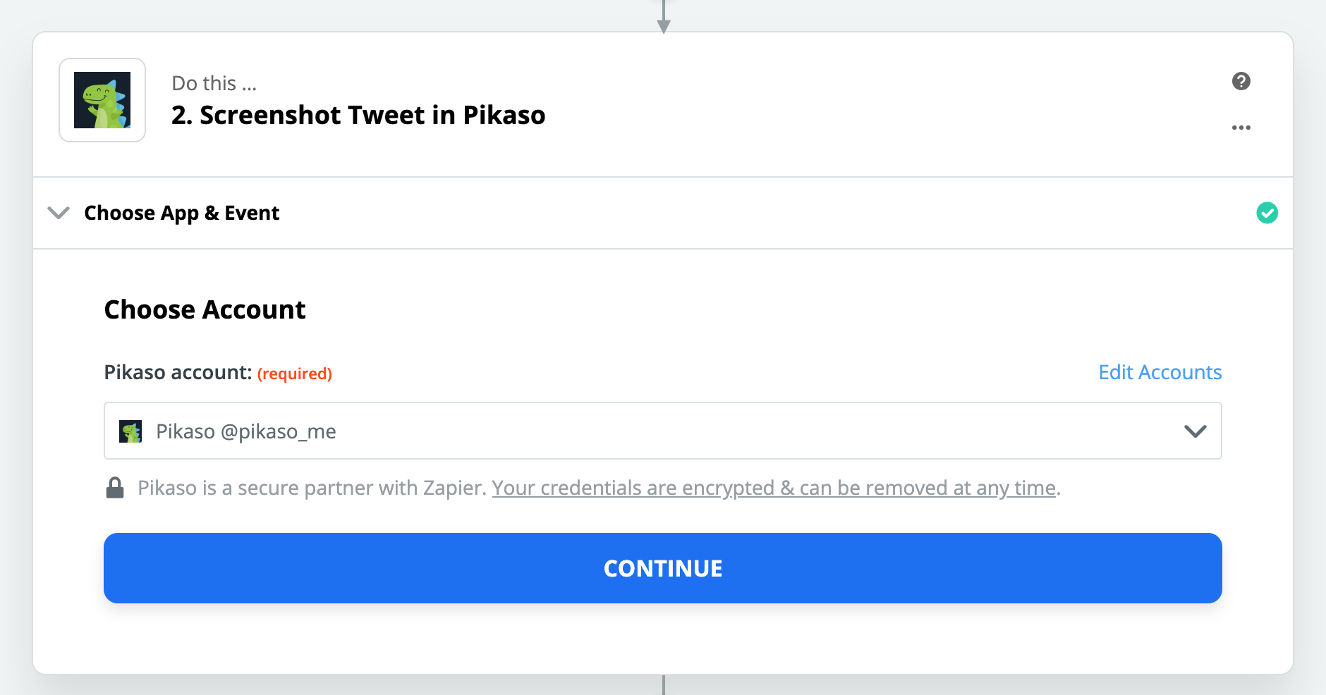Pikaso connection successful