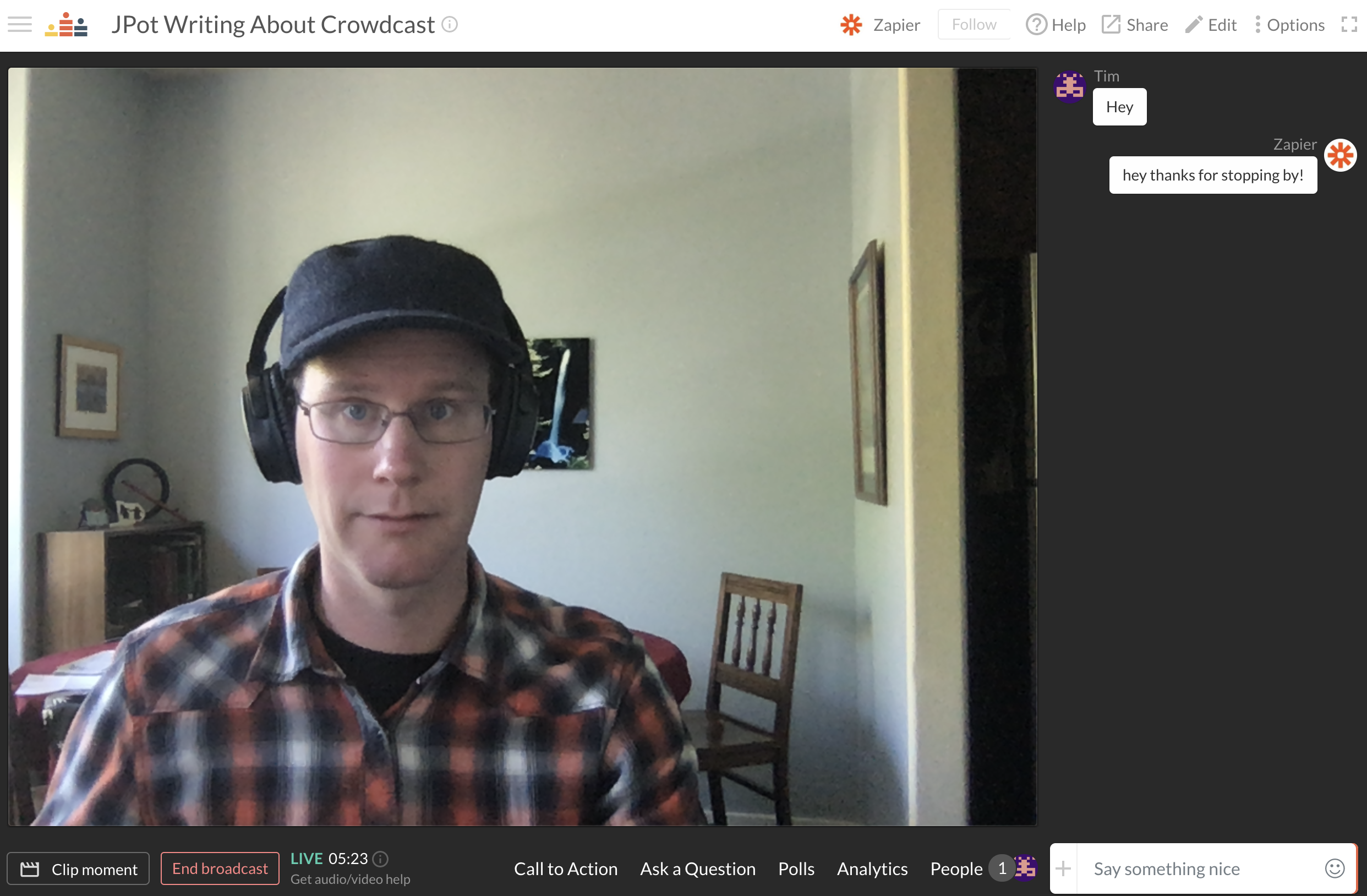 Crowdcast screenshot