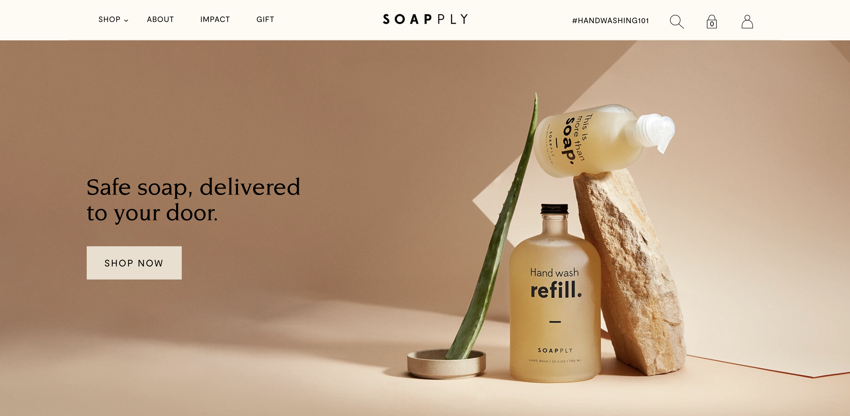 screenshot from Soapply home page