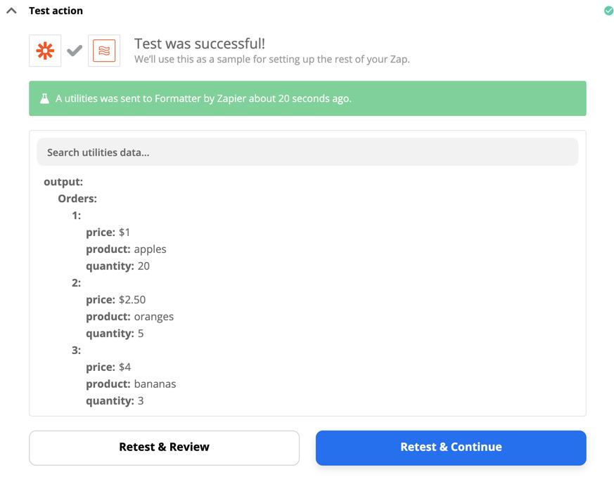 Formatter by Zapier test