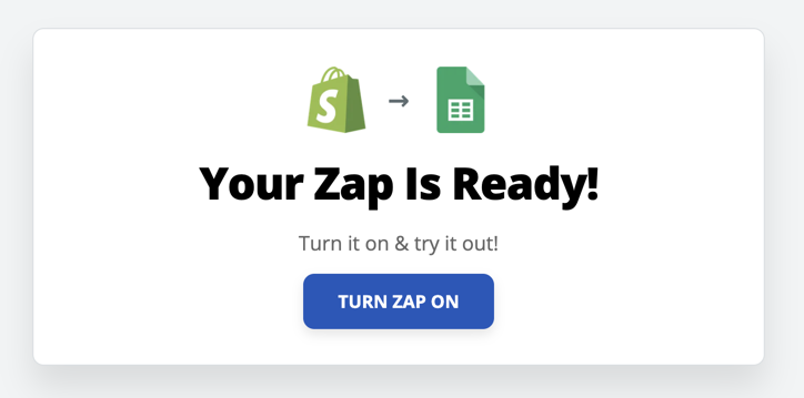 Turn Zap On