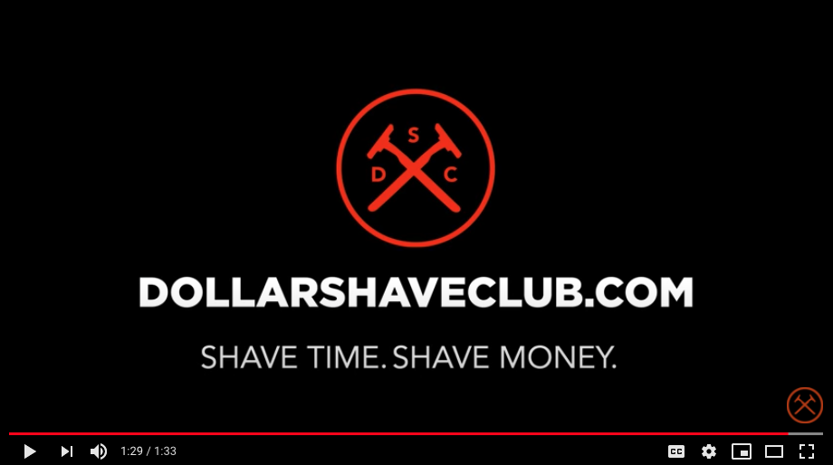 Dollar Shave Club video screen capture