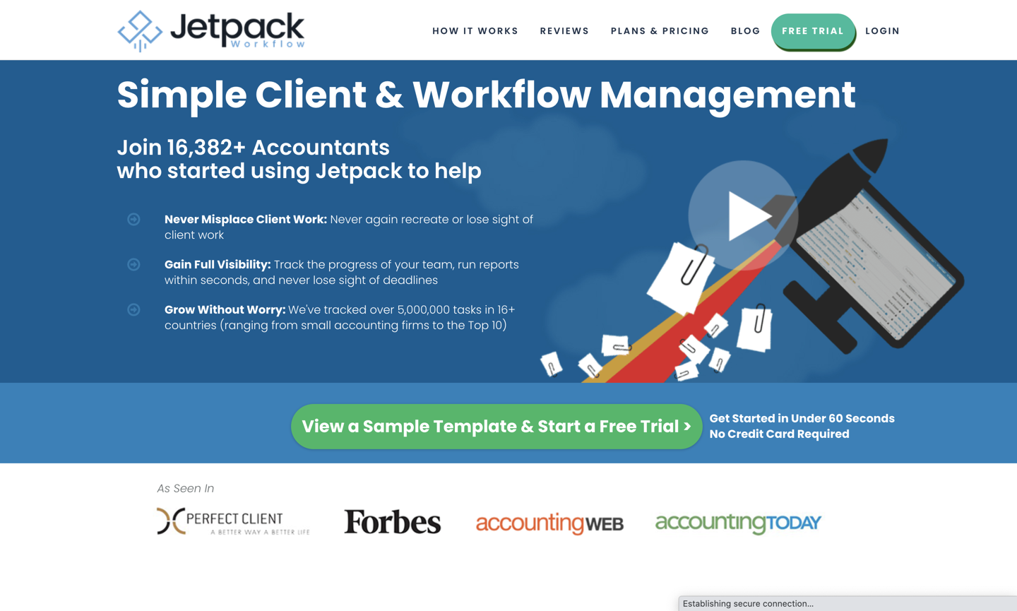 Jetpack Workflow home page