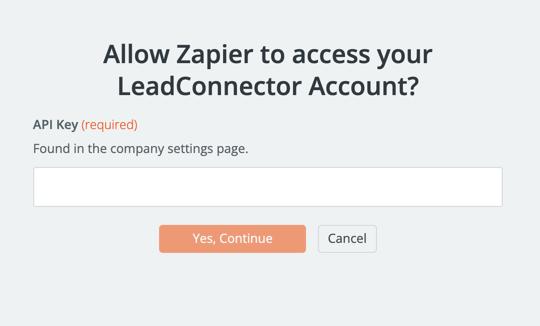 LeadConnector API Key