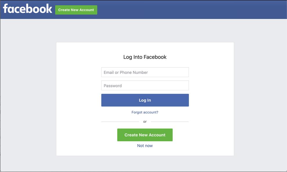 Login to Facebook Conversions