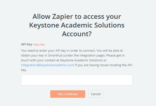 Keystone Academic Solutions API Key