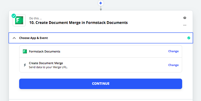 Setting up the Formstack Documents step