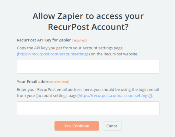 RecurPost API Key