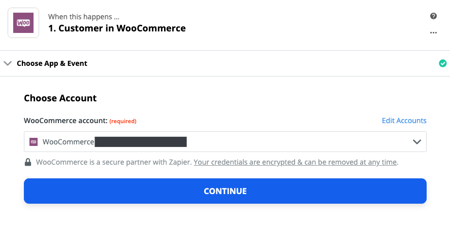 WooCommerce connection successfull