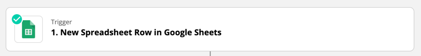Google Sheets trigger set up successfully