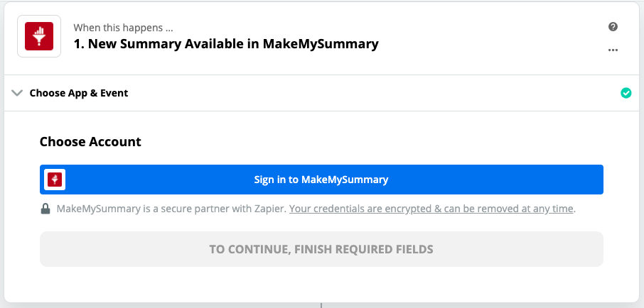 Sign in to MakeMySummary Account