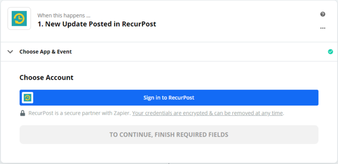 Click to connect RecurPost
