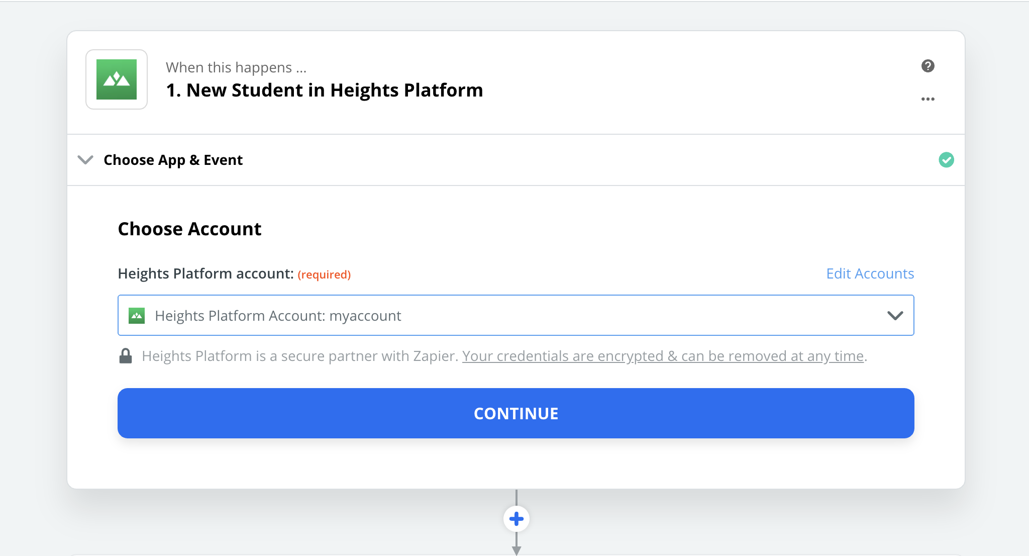 Heights Platform connection successful