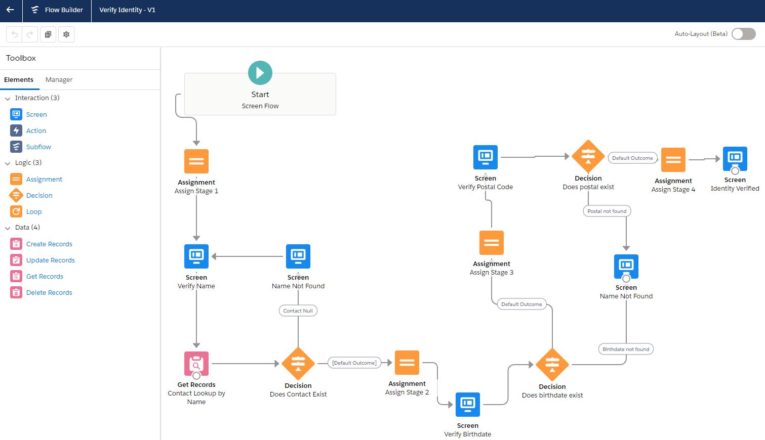 Salesforce Sales Cloud Flow Builder