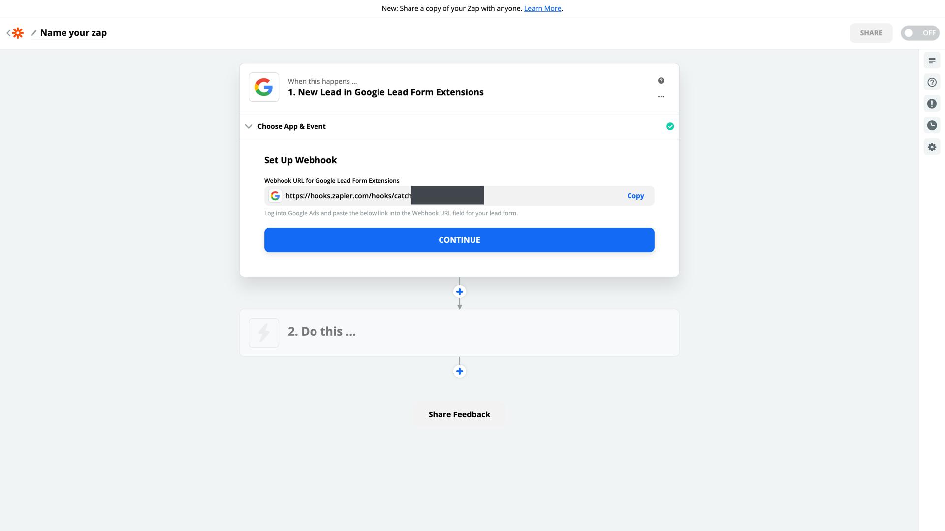Google Lead Form Extension Webhook URL