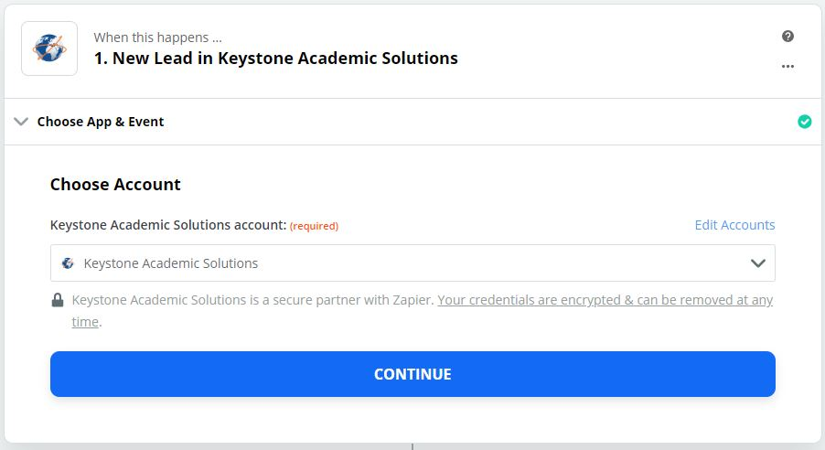 Keystone Academic Solutions connection successful