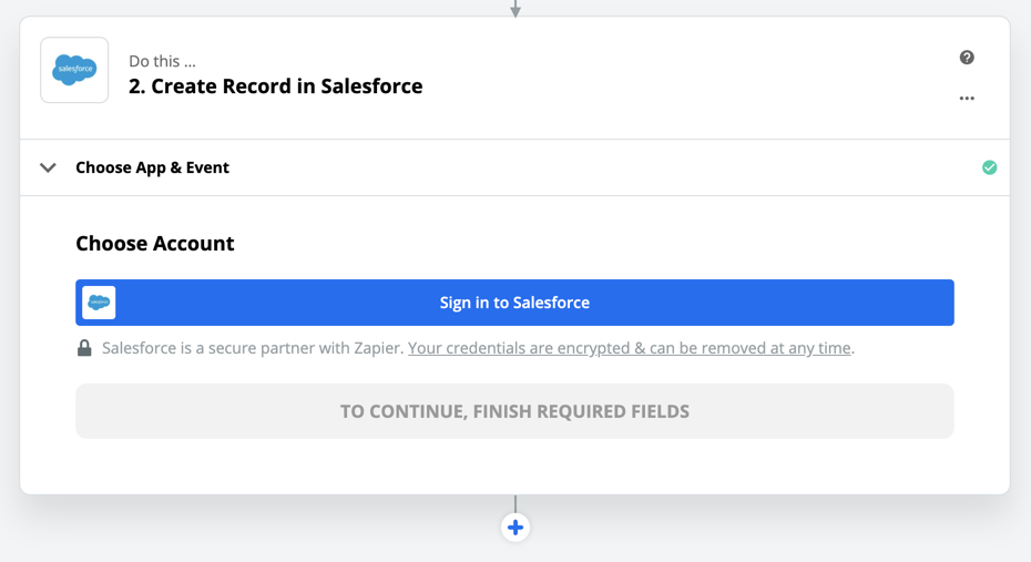 Sign in to Salesforce