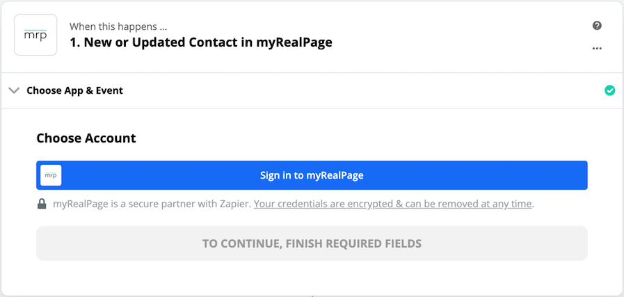 Click to connect myRealPage