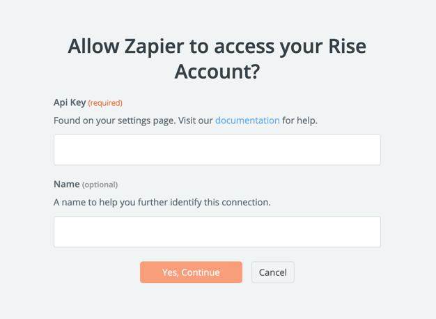 Rise API Key