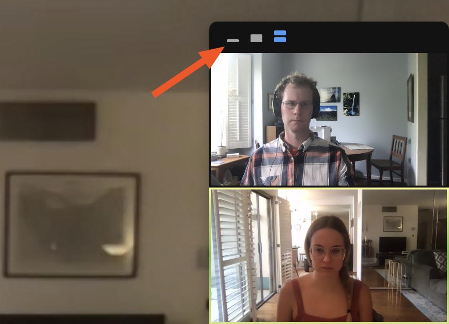 Hide self-view in full screen