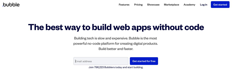 Bubble home page