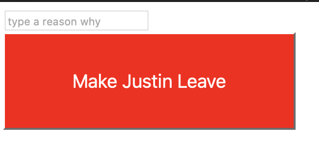 A button that says Make me leave