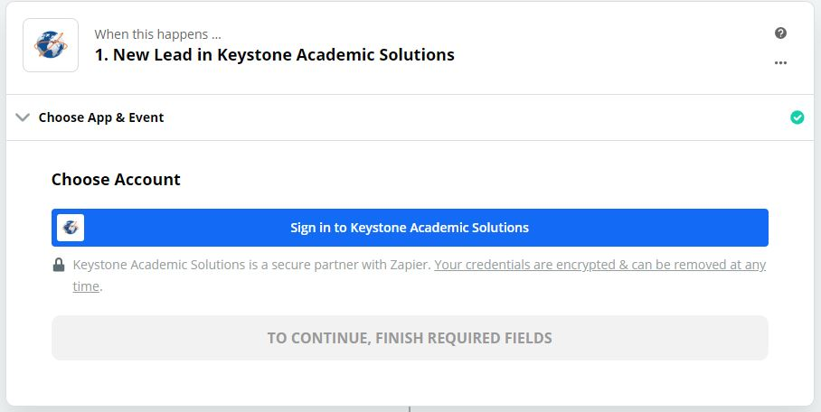 Click to connect Keystone Academic Solutions