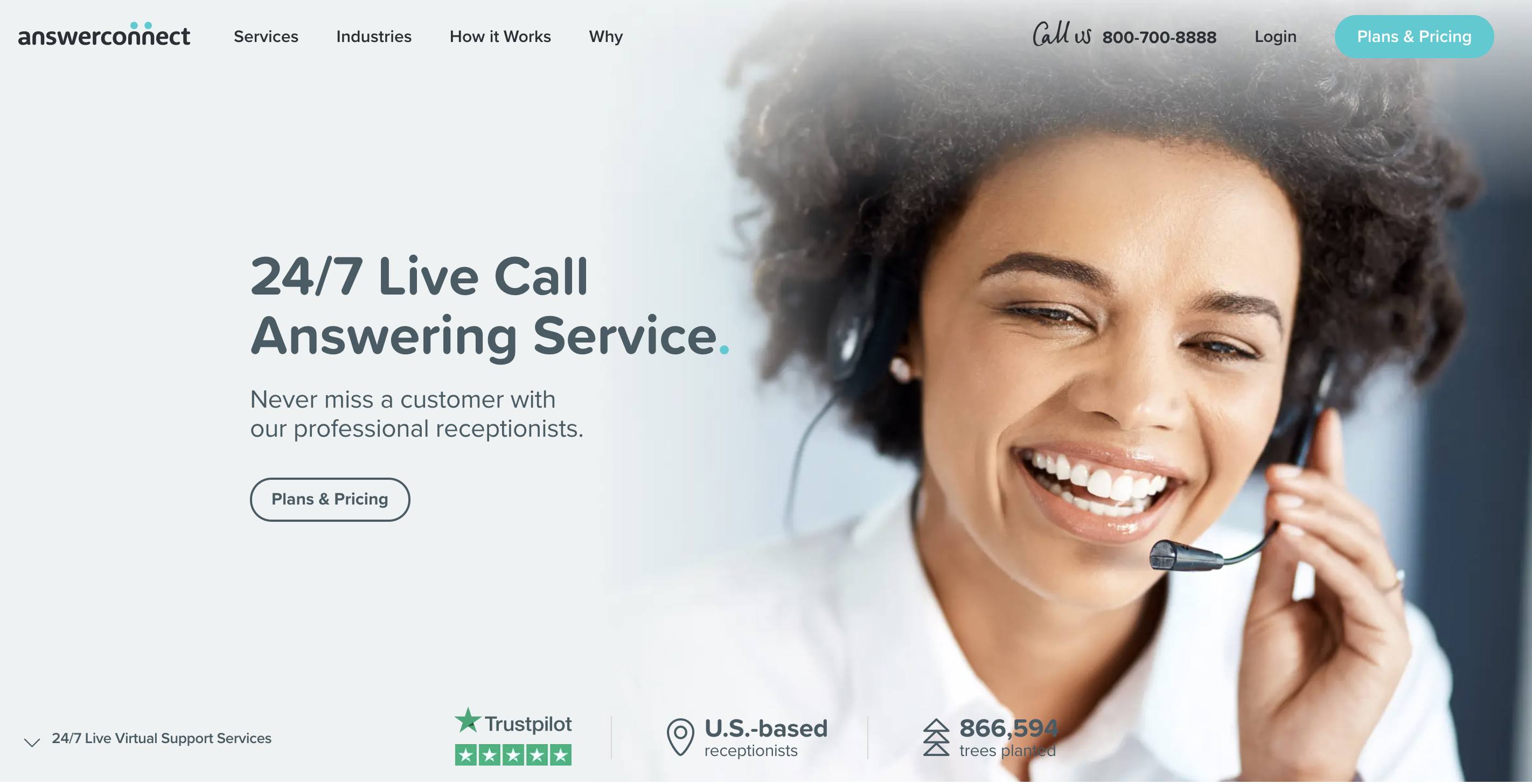 AnswerConnect home page