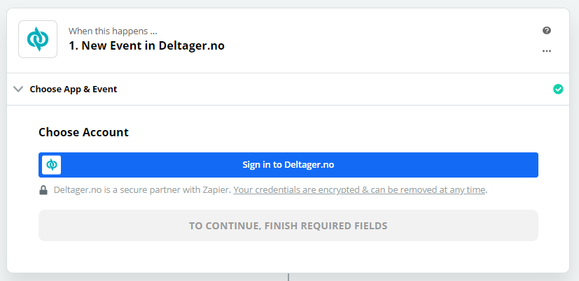 Click to connect  Deltager.no