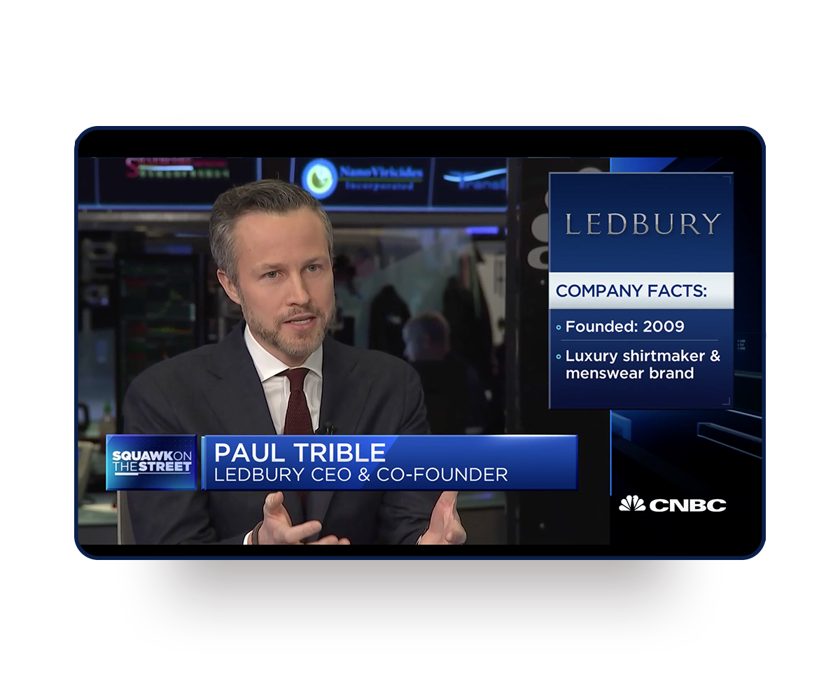 A still of Paul Trible on CNBC