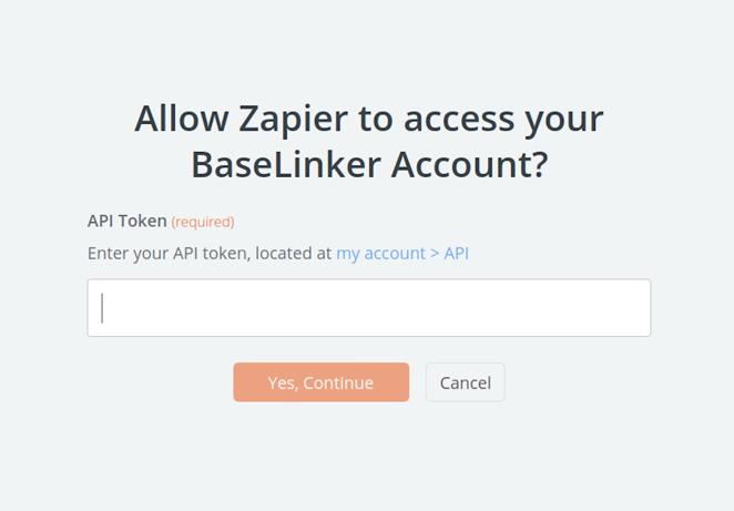 BaseLinker API Key
