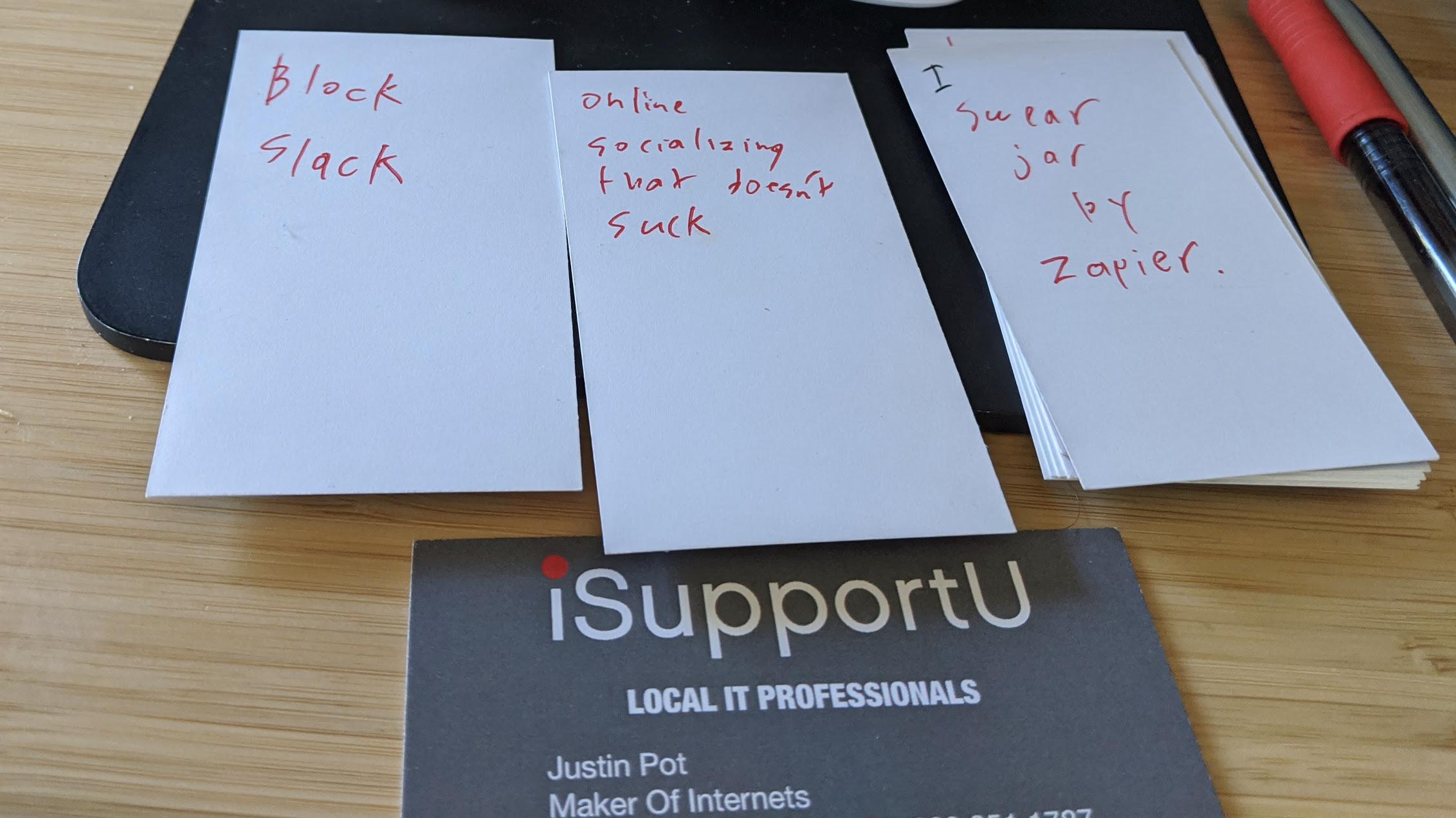 Justin's brainstorming system
