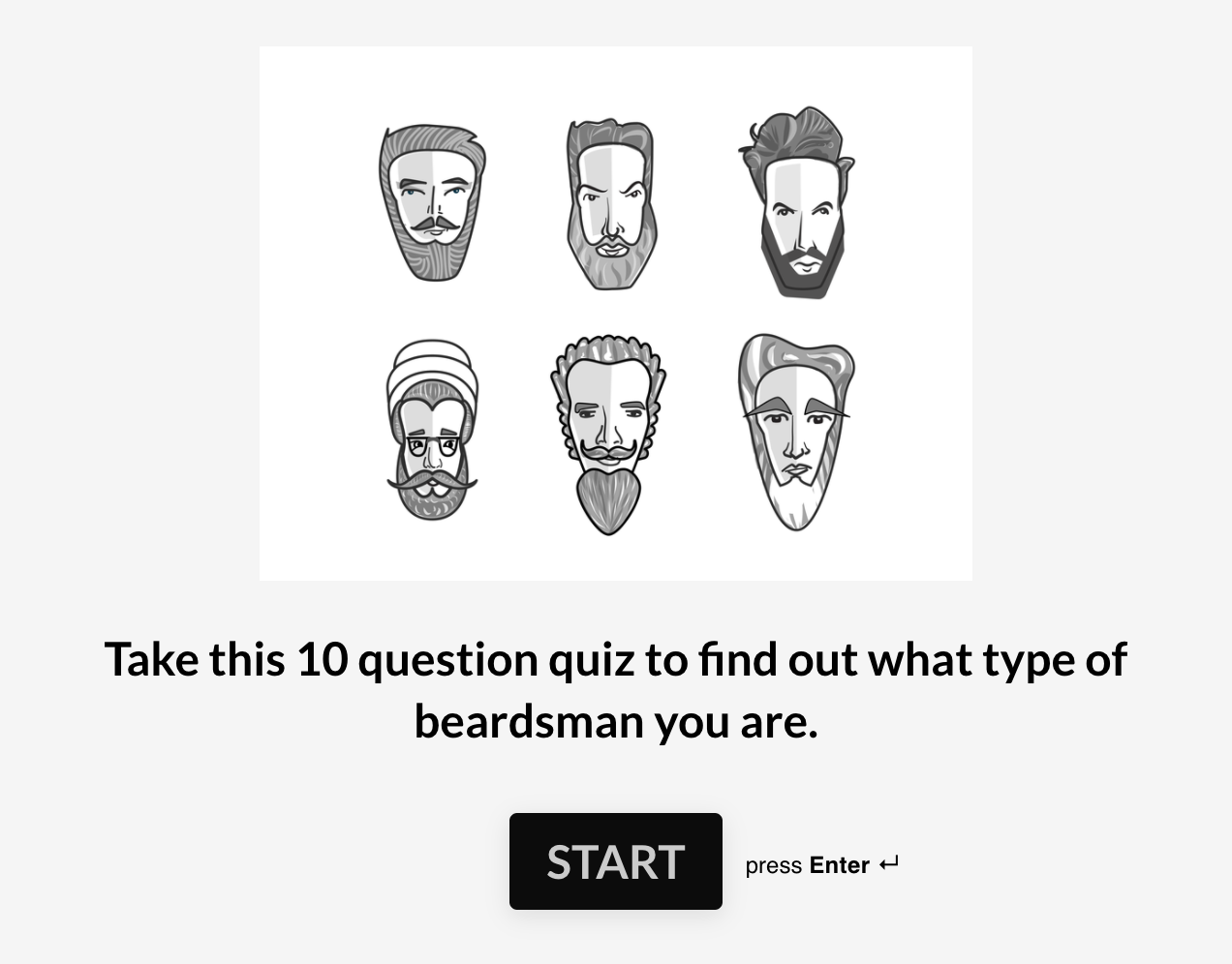 A Typeform quiz from Beardbrand