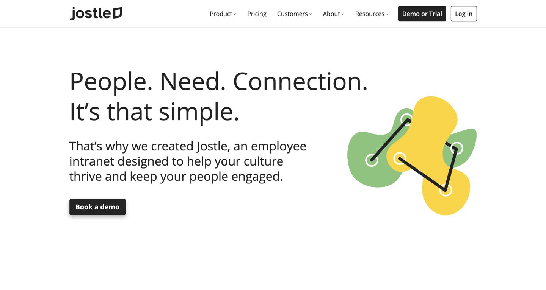 Jostle home page