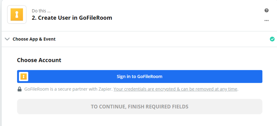 Click to connect GoFileRoom