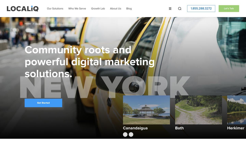 LOCALiQ home page