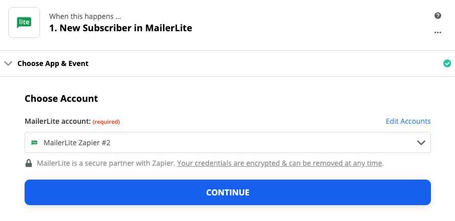 MailerLite connection successful
